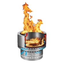Amazon Com Hy C Fg 19 Flame Genie Portable Smoke Free Inferno Wood Pellet Fire Pit Usa Made 19 Diameter Black Garden Outdoor