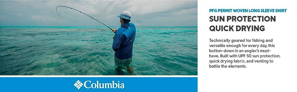 Columbia Men's PFG Permit Woven Long Sleeve Fishing Shirt