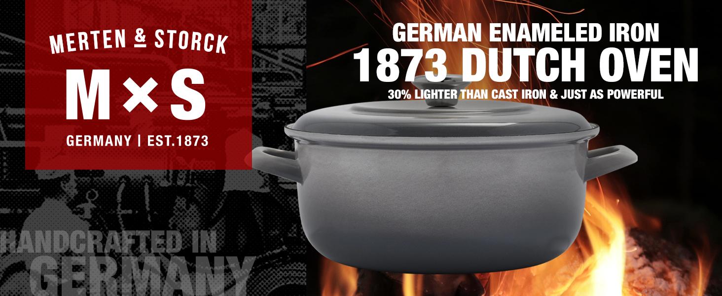 Merten amp; Storck, Mamp;S, carbon steel, black, cast iron, durable, outdoor cooking, tough, powerful