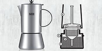 Kuhn Rikon Juliette - Cafetera espresso para inducción, 6 tazas ...