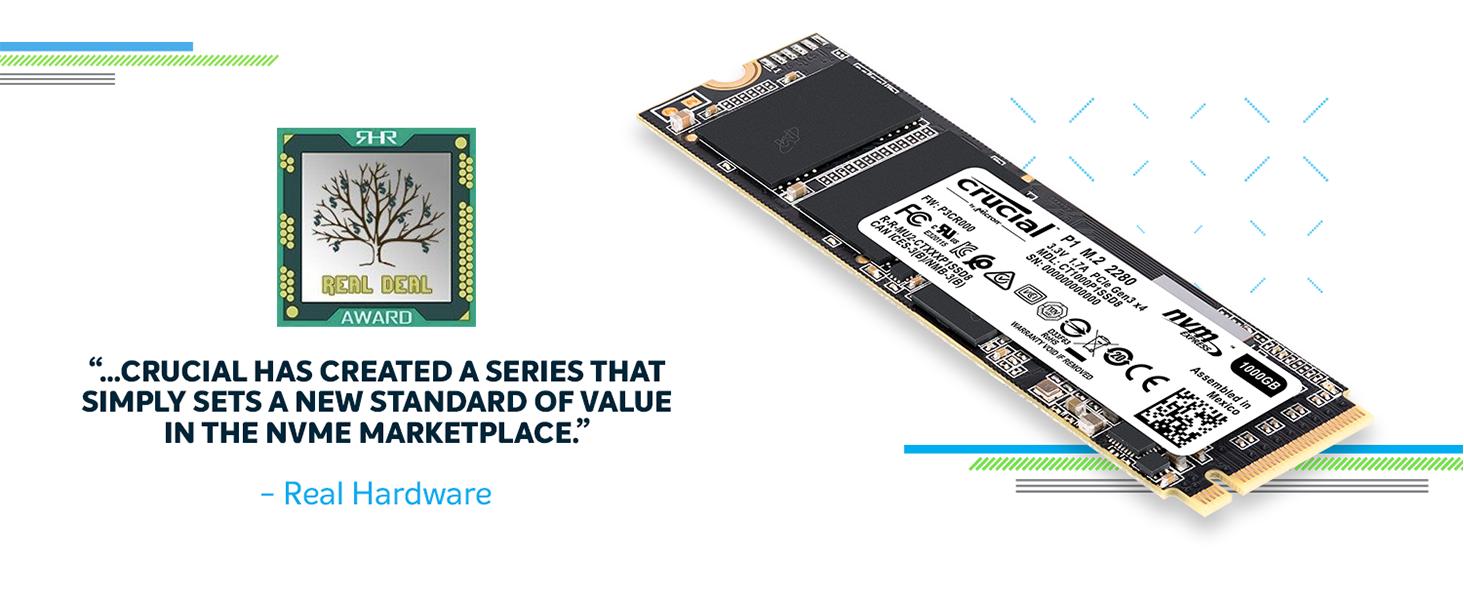 Crucial P1 SSD Real Deal Award