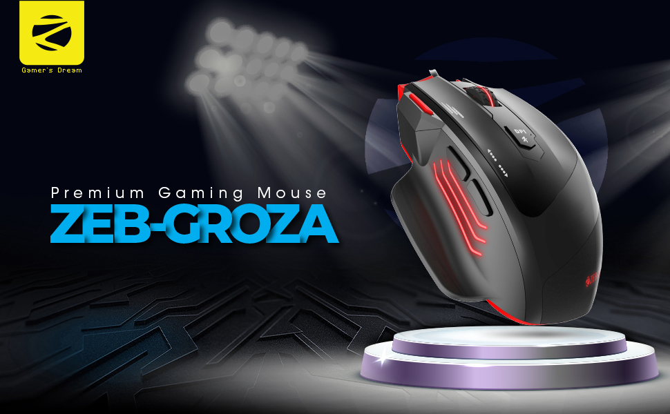 USB Gaming Mouse,zebronics gamimg mouse,Premium USB Gaming Mouse, Zeb Groza USB Gaming Mouse