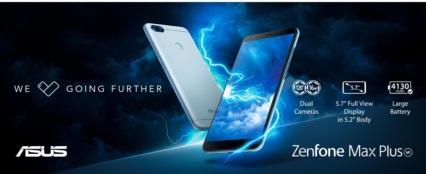 """ASUS ZenFone Max Plus ZB570 5.7"""" 3GB RAM 32GB LTE Unlocked Dual SIM smartphone, ZB570TL-MT67-3G32G"""