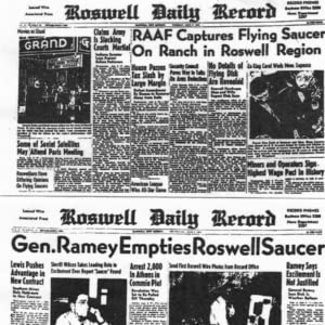Roswell;UFOs;Conspiracy;evidence;crash;aliens;Area 51;Project Blue Book;cover-up;military