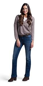 LEE Women's Size Tall Flex Motion Regular Fit Bootcut Jean