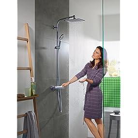 colonne de douche, douche, grande douche, kit de douche, douche design, douche haut de gamme