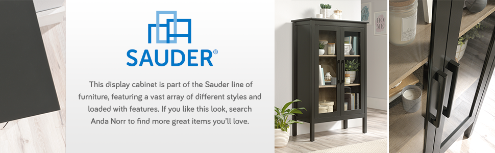 Sauder Boulevard Cafe Night Stand in a Black finish
