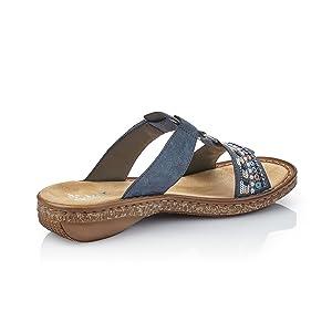96c7fa41e76f6b Rieker Damen 628m6 Pantoletten  Rieker  Amazon.de  Schuhe   Handtaschen