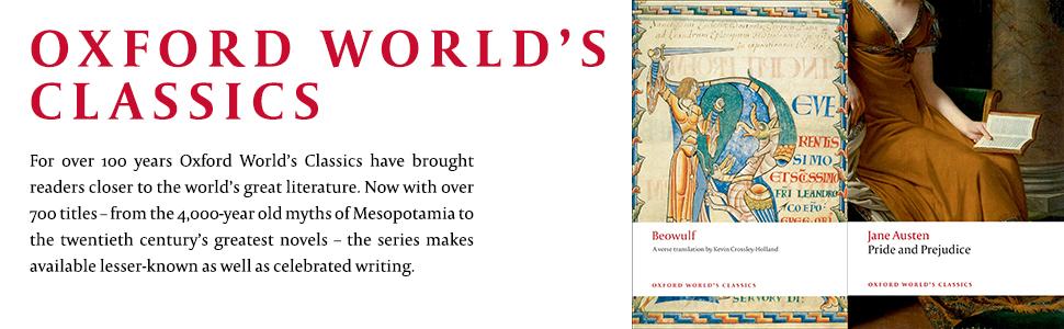 oxford world's classics, literature, novels, myths, celebrated writing