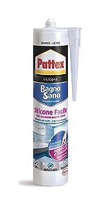 silicone facile tubo pattex bagno sano bianco cartuccia