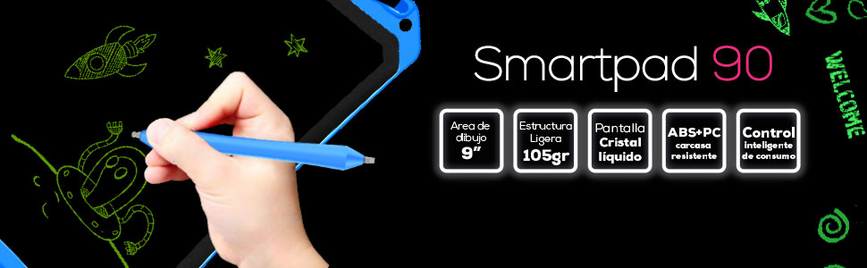 Woxter Smart Pad 90 - Pizarra electrónica (Pantalla de Cristal líquido borrable de 9
