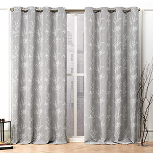 floral curtains, white sheer curtains, sheer curtains, light filtering, light filtering curtains