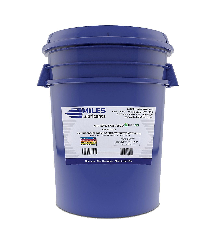 MILESYN SXR 0W20, Full Synthetic DEXOS1 GEN2, API GF-5/SN Plus, 5 Gallon  Pail