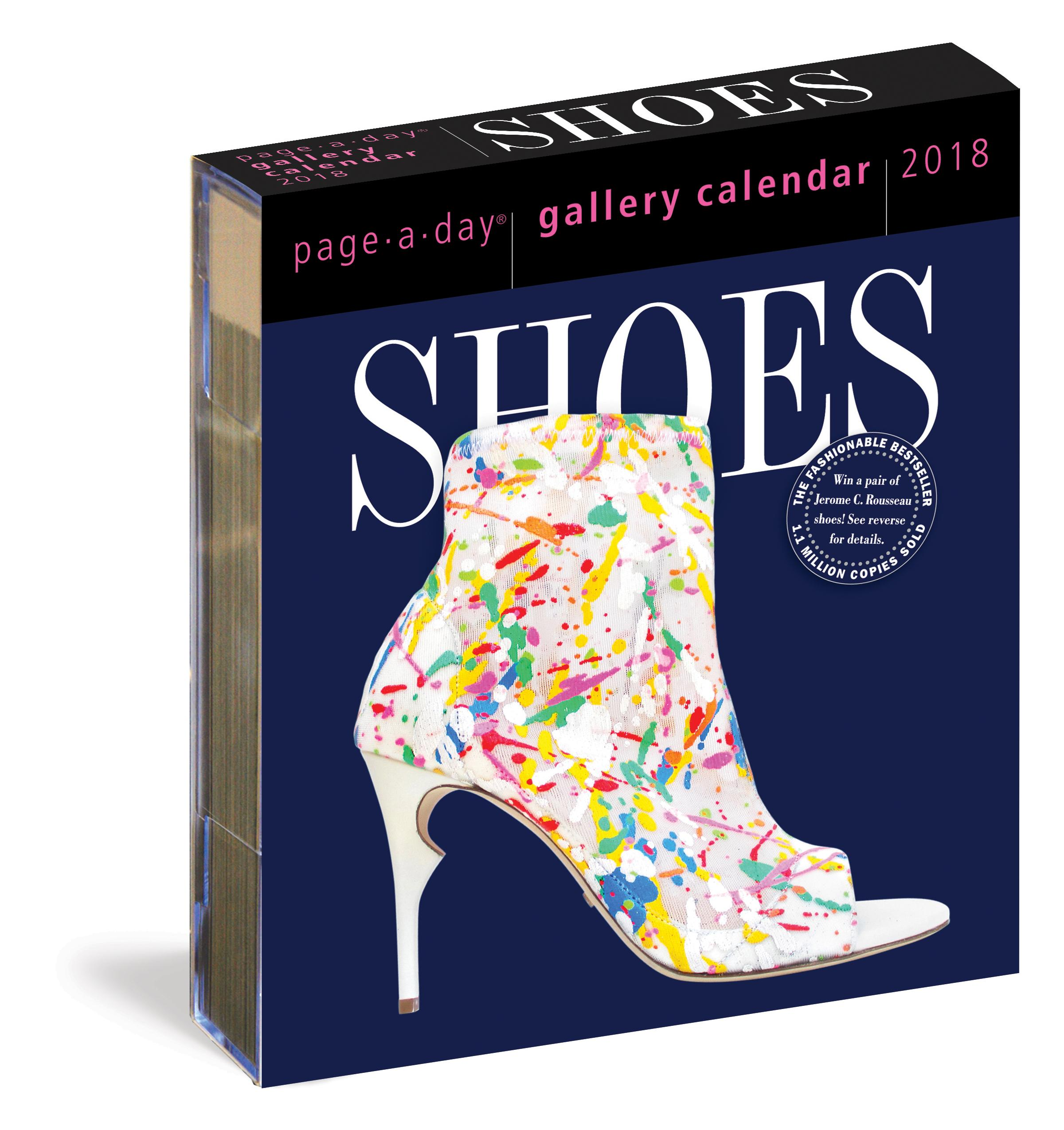 Calendar Book 2018 : Shoes page a day gallery calendar workman publishing