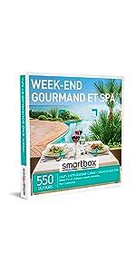 Week-end gourmand et spa coffret box cadeau Smartbox