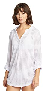 Cover up Coverup Top Sunshirt Sun Shirt Easy Fit