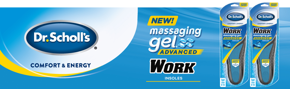 Dr. Scholl's Massaging Gel Advanced Work Insoles Twin Pack