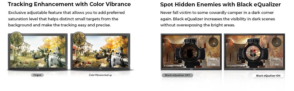 XL2731 Features Color Vibrance & Black eQualizer