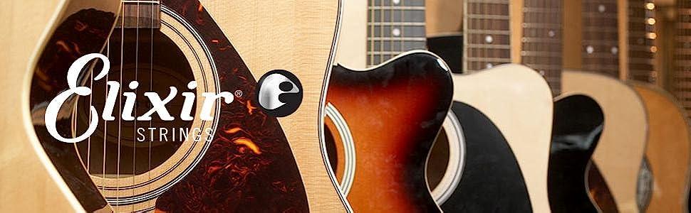 Amazon Com Elixir Strings 80 20 Bronze Acoustic Guitar