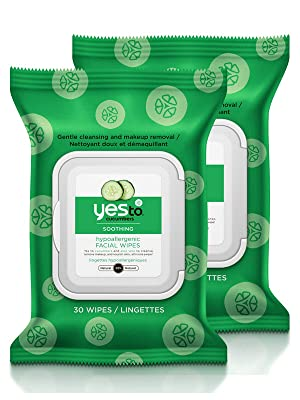 yes to cucumbers face wipes facial wipes hypoallergenic