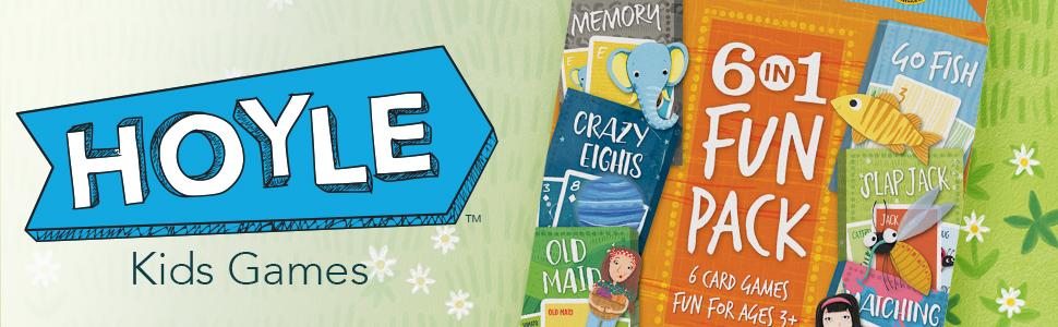 hoyle; kids games; hoyle kids games; old maid; go fish; crazy eights, memory, slap jack; matching
