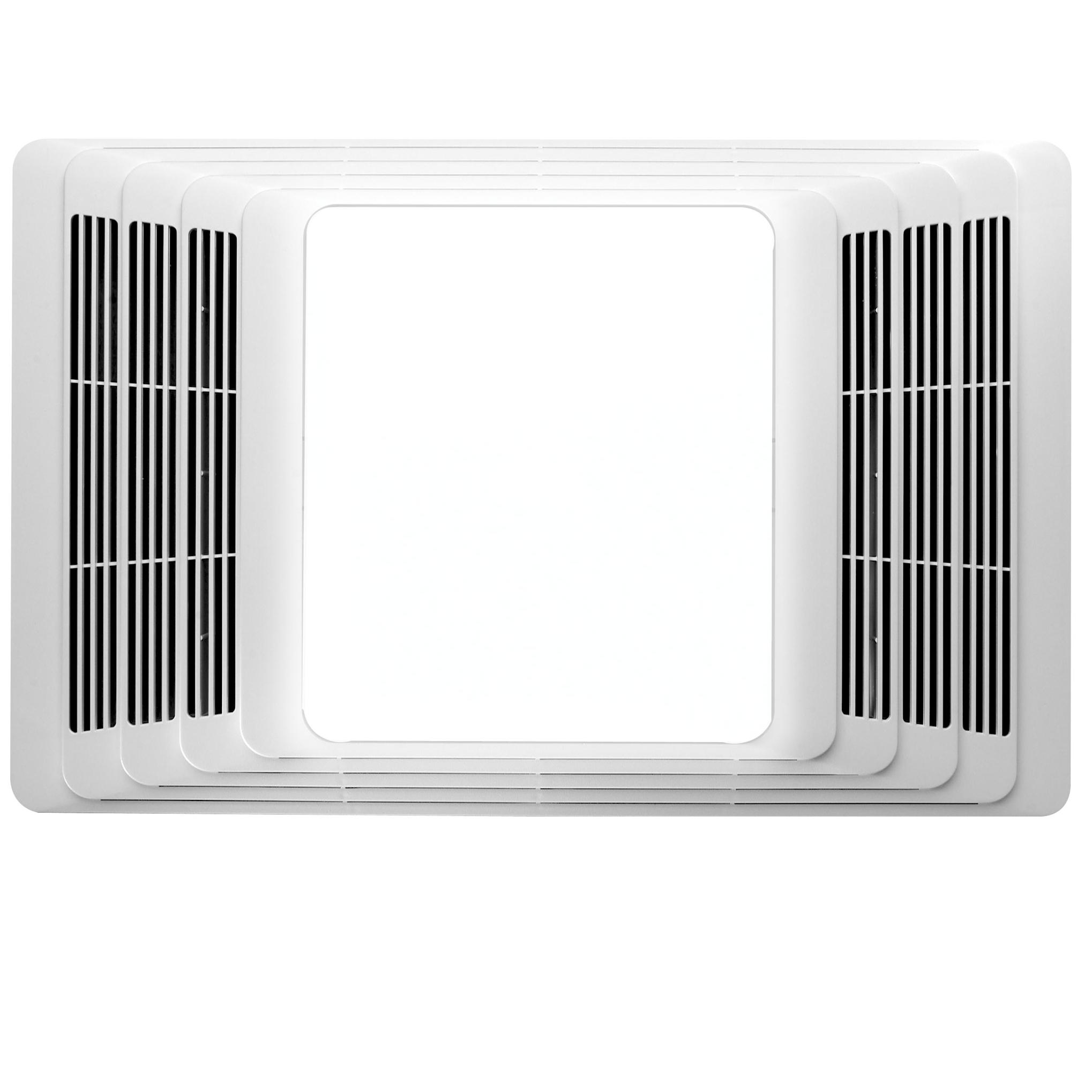 Broan 100 Cfm Ceiling Exhaust Fan With Light 696: Broan 696 Fan And Light With Acoustic Insulation, 100 CFM