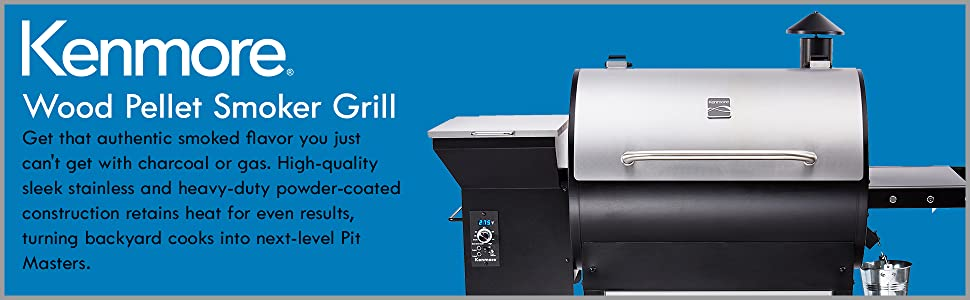 Amazon Com Kenmore Wood Pellet Smoker Grill With