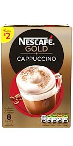 Nescafe, gold, cappuccino
