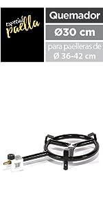 Metaltex 7398270000 Paellera, Acero pulido inducción, 32 cm ...