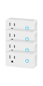 BN-LINK 4 Pack Smart WiFi Outlet, w/ Energy Monitoring and Timer Function, White