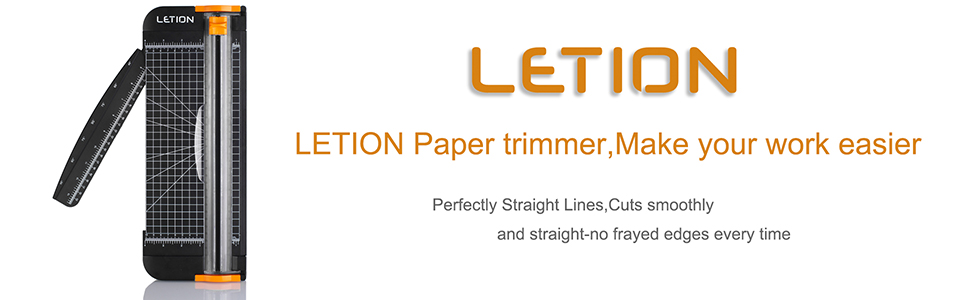 LETION A4 Paper Trimmer Titanium Scrapbooking with Automatic Security Safeguard for Standard Cutting of Paper,Photos Or Labels (Black)