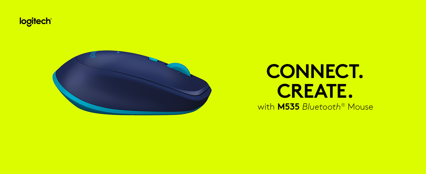 Logitech M535 Bluetooth Mouse – Compact Wireless Mouse with 10 Month