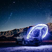 stargazing, tent, cove
