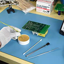 tools, applicator, flux, spatula, brushes, acid, toothpicks, flux, paste, dipped, wires