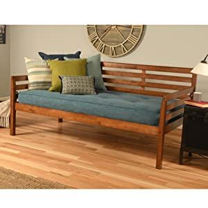daybed, bed, bedroom, kids, twin, twin-size, wood, barbados, white, rustic walnut, walnut, hardwood
