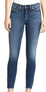 SILVER JEANS CO MOST WANTED MID RISE SKINNY JEANS