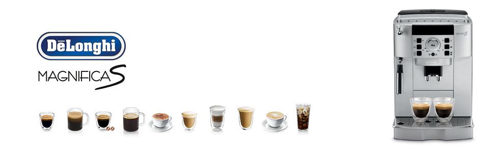 coffee machine; magnifica s; ECAM22110SB; delonghi coffee machines; automatic coffee machines