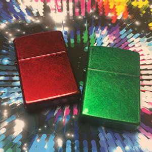 candy apple red lighter, green lighhter, metalic lighter, zippo, color iced lighter, colored lighter