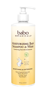 Moisturizing baby shampoo and wash