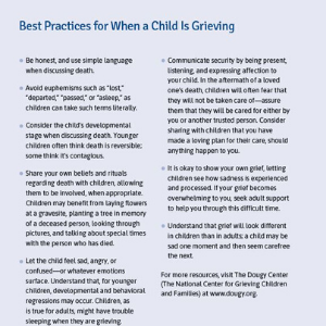 best practices, additional resources, grief