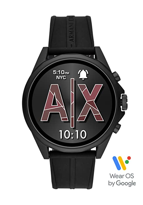 armani exchange smartwatch  Armani Exchange Men's Smartwatch Powered with Wear OS by Google with Heart Rate, GPS, NFC, and Smartphone Notifications a8e22ad9 5df1 483d 93e7 7bca945eee13