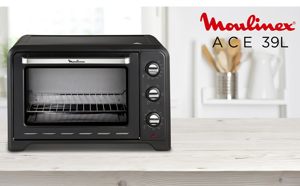 Moulinex m4000 XL Horno Ace 39 L Convection, 2000 W, Aluminio, Negro