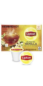 """Lipton K-Cup Black Tea K-Cups Black Tea with Vanilla 12 ct """