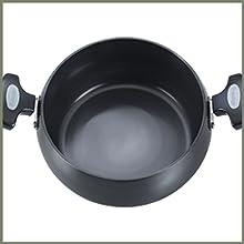 Prestige Hard Anodised Cookware Lifetime Induction Base Sauce Pan, 200mm, Black SPN-FOR1