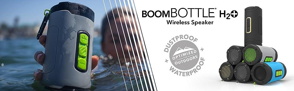 scosche boombottle h2o+ waterproof and dustproof wireless speaker