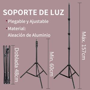 Neewer Luz Anillo LED Bicolor 48cm con Pantalla LCD y Soporte Batería, Máx. Bolsa de Soporte y Transporte 157cm Incluida para Video en Vivo Selfie ...