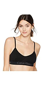 modern cotton bralette, calvin klein logo sports bra, kardashian