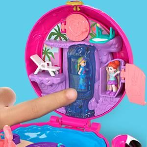 Coffret Univers Polly Pocket avec surprises à découvrir.