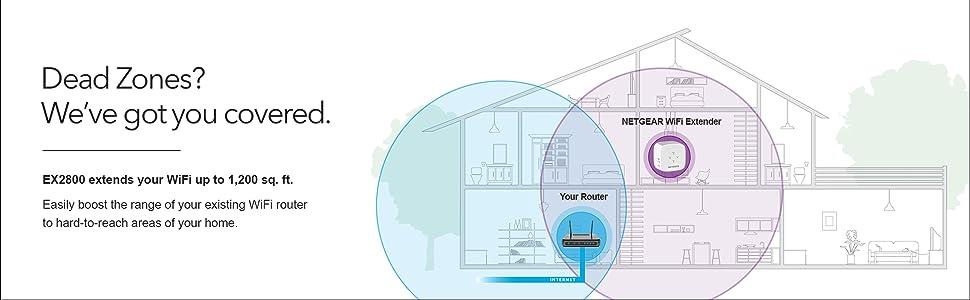 ex2800 home wifi range extender