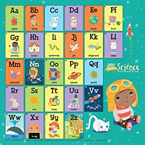 Baby Loves Science alphabet poster periodic table of elements science literacy